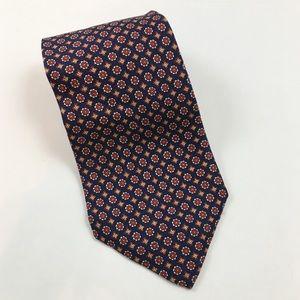 Polo by Ralph Lauren Red Flower Print Silk Tie